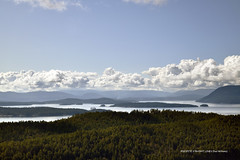 From the top of Mount Norman on South Pender Island in British Columbia, Canada  -  (Published by GETTY IMAGES)