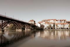 Old bridge and building in Maribor Slovenia