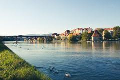 Drava river in Maribor Slovenia