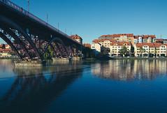 Drava river and Old bridge, Maribor Slovenia