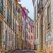 Cobblestone Street, Coimbra, Portugal