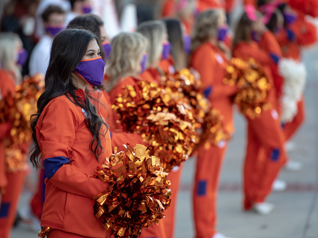Clemson Photos: Cheerleaders, 2020, Football, Boston  College