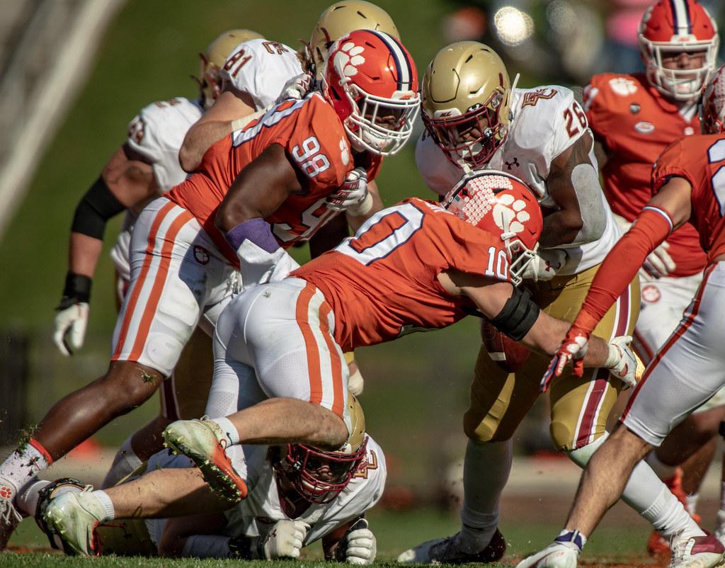 Clemson Photos: Baylon  Spector, Myles  Murphy, 2020, Football, Boston  College