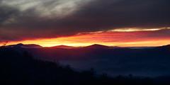 Sunset beneath whale peak