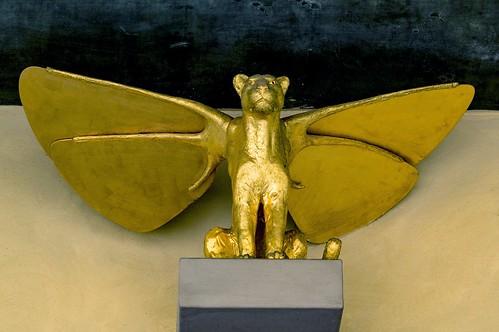 Prague, Hradcany Castle... Winged Golden Lion