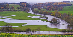 Photo of Eamont and Eden after three days of heavy rain.