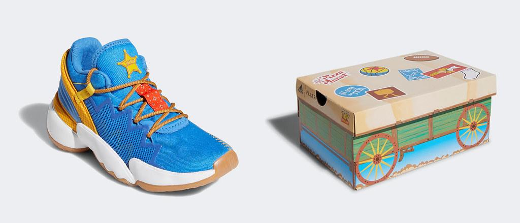 5. adidas攜手皮克斯以《玩具總動員》中的胡迪警長為設計靈感,打造adidas D.O.N. Issue #2 Woody兒童籃球鞋款,快趁雙11 POWER WEEK以超強優惠入手