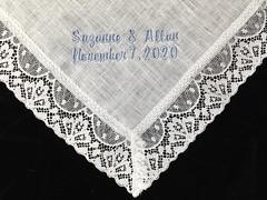 Irish Linen and Lace Handkerchief
