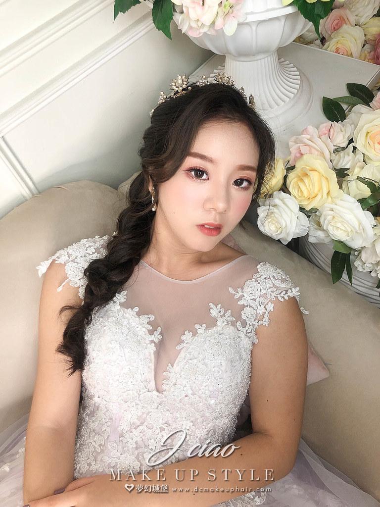 【新秘婕喬】新娘造型創作 / 韓系側編髮