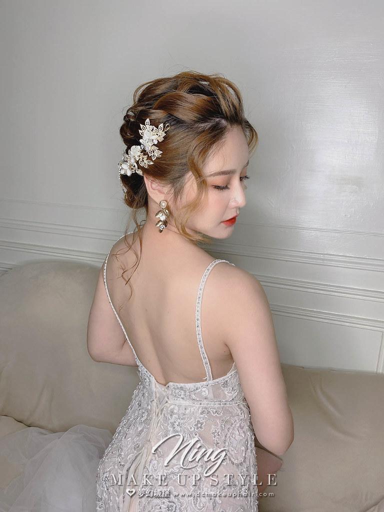 【新秘羽寧】新娘造型創作 / 柔美低盤髮