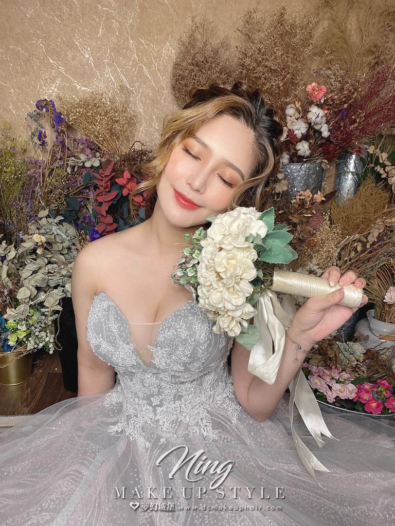 【新秘羽寧】新娘造型創作 / 韓系後編織髮型