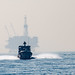 Maritime Expeditionary Security Squadron 11 conducts a security site survey off the coast of Long Beach, California.