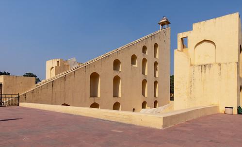 Jantar Mantar Observatory, Vrihat Samrat Yantra, Jaipur, Rajasthan, India.