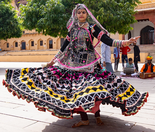 Rajasthani Dancing, Amber Fort, India.