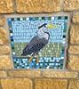 Heron mosaic, Culverhay, Cricklade