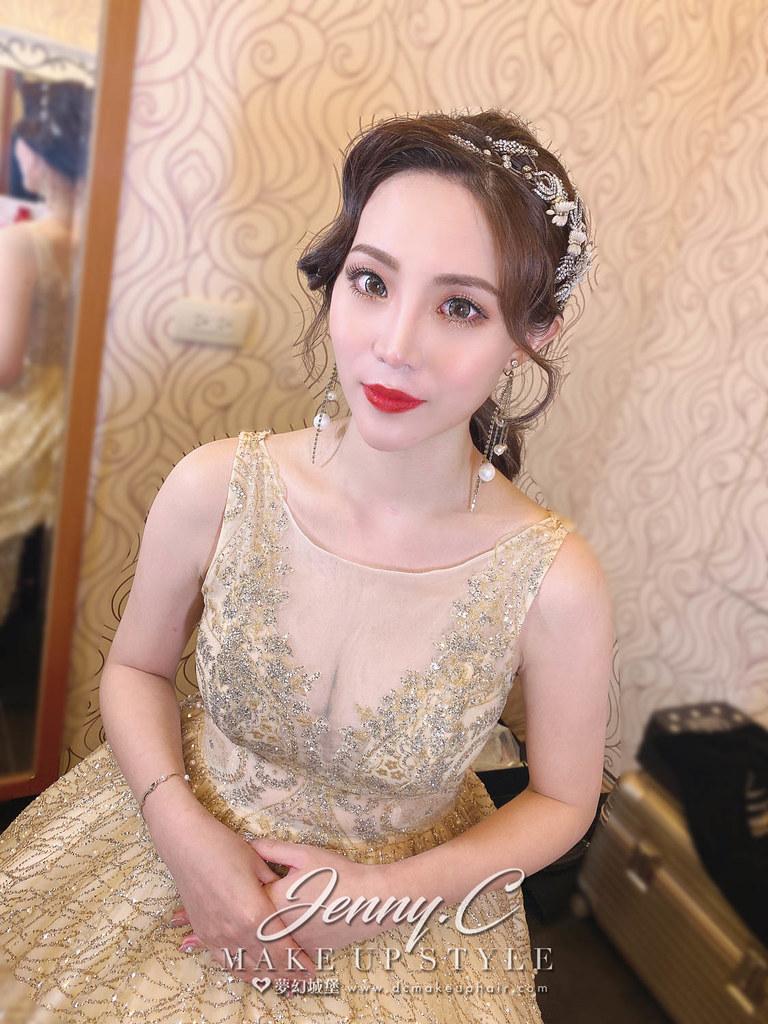 【新秘蓁妮】bride 逸珊 宴客造型 / 歐美華麗,輕復古,仙女