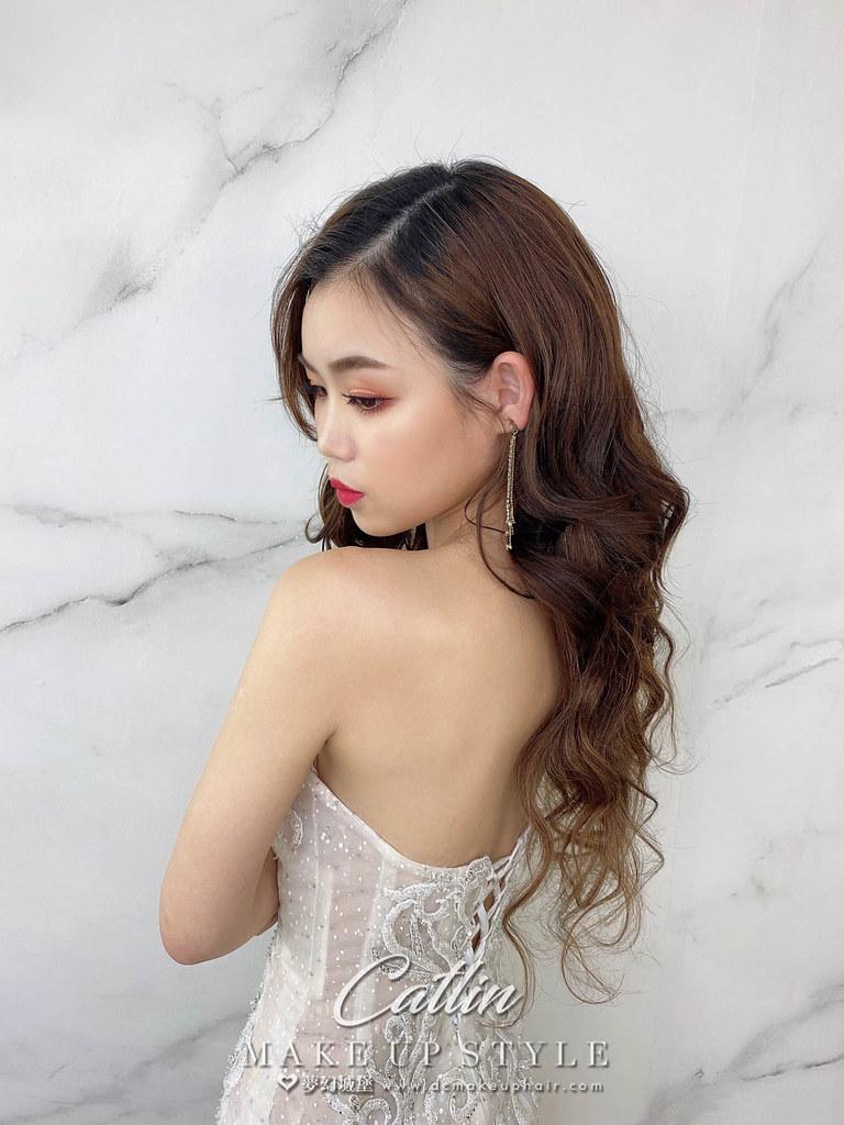 【新秘Catlin】新娘造型創作 / 女神放髮