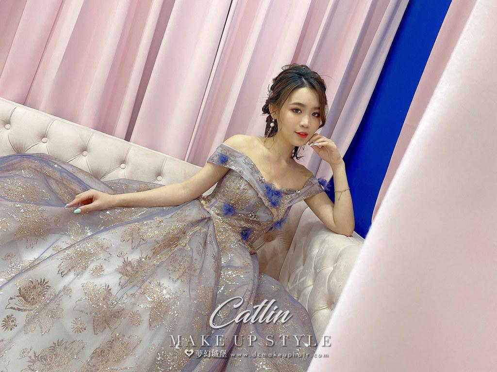 【新秘Catlin】新娘造型創作 / 甜甜後編髮