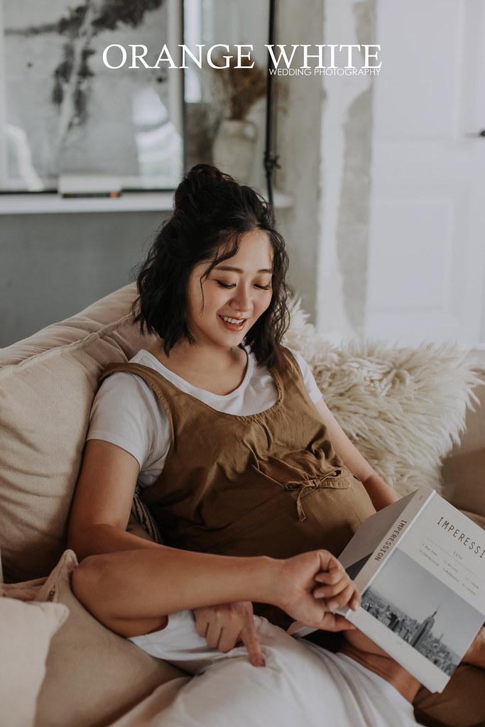 橘子白,攝影,Anita俐婷,孕婦寫真,孕婦照,造型,孕媽咪 ,便宜,ATTIC 80,攝影棚,美式風格,妊娠寫真