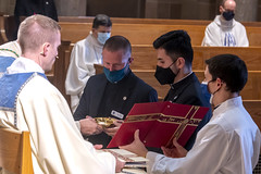 Ben Daghir installed into Ministry of Acolyte on 10/27/2020 at St. Mary's Seminary & University.  Photo credit: Larry Canner, Larry Canner Photography