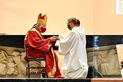 Cory Pius installed in Ministry of Acolyte at St. Vincent Seminary 10/30/2020.  Photo credit St. Vincent Archabbey.