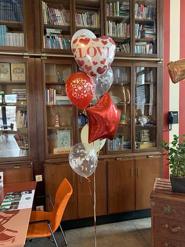 Ballonboeket Liefde Hotel New York Rotterdam Valentijnsdag
