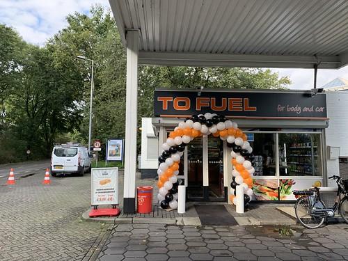 Ballonboog 6m Opening Tankstation To Fuel Rotterdam Kralingen
