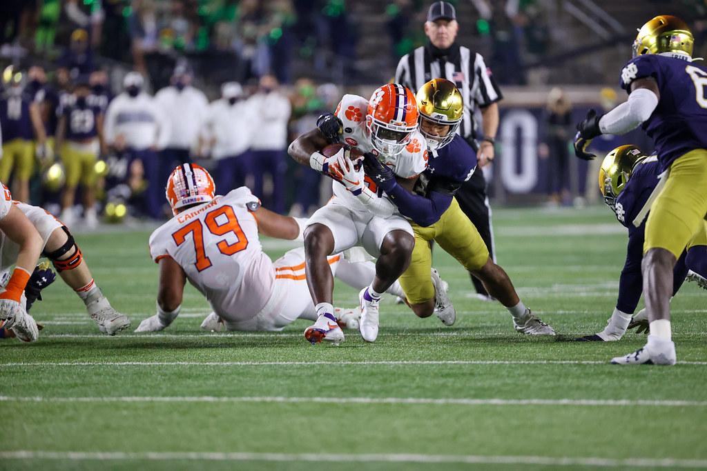Clemson Photos: Travis  Etienne, 2020, Football, notredame