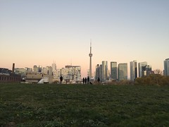New park at dusk