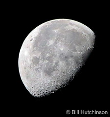 November 6, 2020 - Gorgeous fall moon. (Bill Hutchinson)