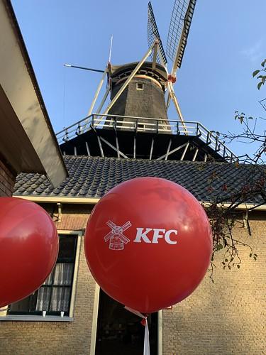 Cloudbuster Rond Bedrukt Bezorgrestaurant KFC Specerijmolen De Ster Kralingse Plas Rotterdam