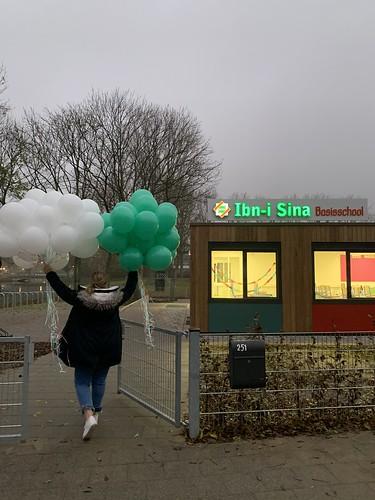 Heliumballonnen Basisschool  Ibn-i-Sina Rotterdam