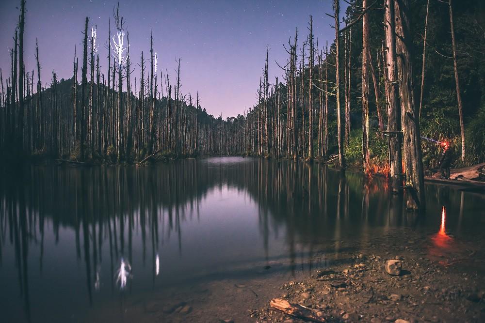 圖3_夜晚的水漾森林繁星點點,在這篇星空下與你訴語