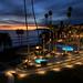SeaCrest OceanFront Hotel Pool Area at Dusk - Pismo Beach - California