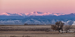 November 11, 2020 - Alpenglow on the Rockies. (Tony's Takes)