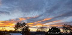November 10, 2020 - A nice sunset in Thornton. (ThorntonWeather.com)