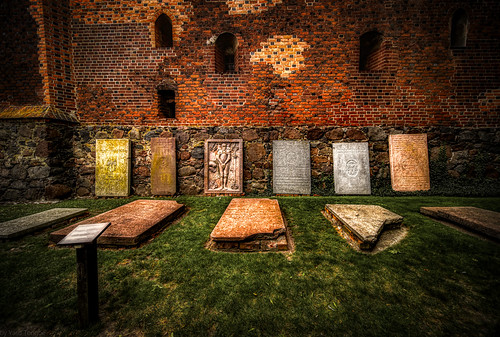 Malbork Castle:  cometary next to the the Blessed Virgin Mary Church in the upper castle, Malbork, Poland.  221-Edita