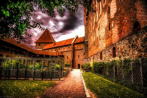 Malbork Castle: outside part of the upper castle, Malbork, Poland. 225-Edita