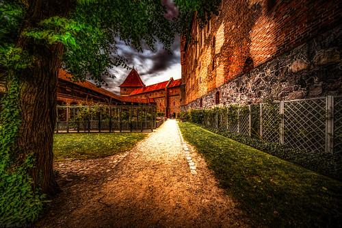 Malbork Castle: outside part of the upper castle, Malbork, Poland.  224-Edita