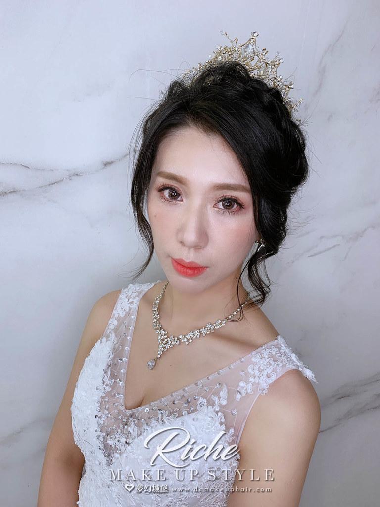 【新秘RICHE】新娘造型創作 /編髮盤髮