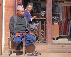 Une boutique de tailleur (Bhaktapur, Népal)