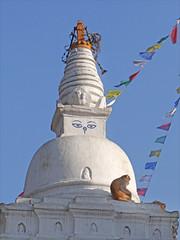 Petit Stupa dans le temple de Swayambhunath (Katmandou, Népal)