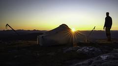 Sunset wild camping