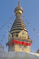 Le stupa de Swayambhunath à Katmandou (Népal)