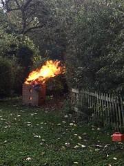 Photo of My Garden Incinerator in full fire !!
