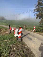Travaux de réparation du pont traversant le ruisseau Le Schychet