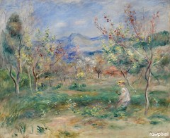 Landscape (Paysage) (1900–1905) by Pierre-Auguste Renoir. Original from Barnes Foundation. Digitally enhanced by rawpixel.