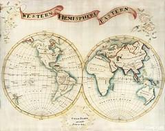 Map sampler made at Pleasent Valley Quaker Boarding School (1809) by Polly Platt. Original from The MET Museum. Digitally enhanced by rawpixel.
