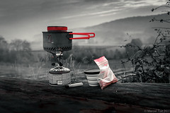 Making coffee with a view @ the campsite