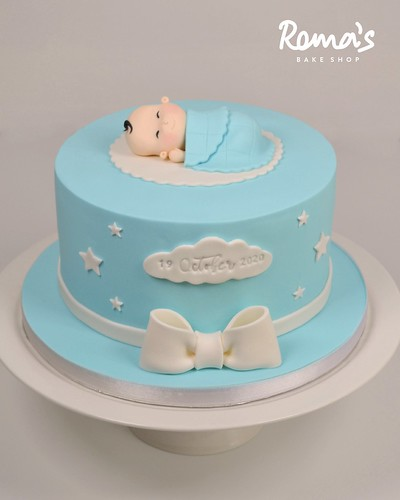 One month baby cake